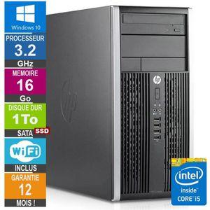UNITÉ CENTRALE  PC HP Pro 6300 MT Core i5-3470 3.20GHz 16Go/1To SS