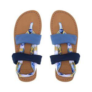 SANDALE - NU-PIEDS Sandalette Femme Animal Drucilla Snorkel Bleu