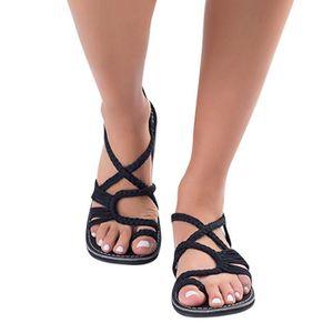 promo code 70f3f dbf63 TONG Femmes Flip Flops Sandales Chaussures D été Wrap S