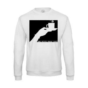 T-SHIRT Sweat Shirt Homme Une Petite Pause Café Tasse Noir