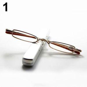 29c86db90382b Mode Mini-lunettes de lecture portables et stylos Pen Tube Case 1.00 ...