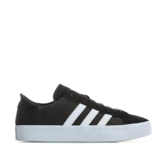 Baskets adidas Originals Court Vantage pour femme en noir et blanc. Noir Noir - Achat / Vente basket