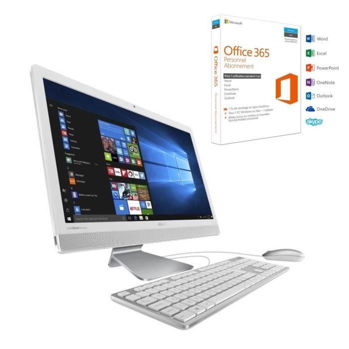 """Pack ASUS PC Tout-en-Un V221IDUK WA032T 21,5"""" + Office 365 Personnel"""