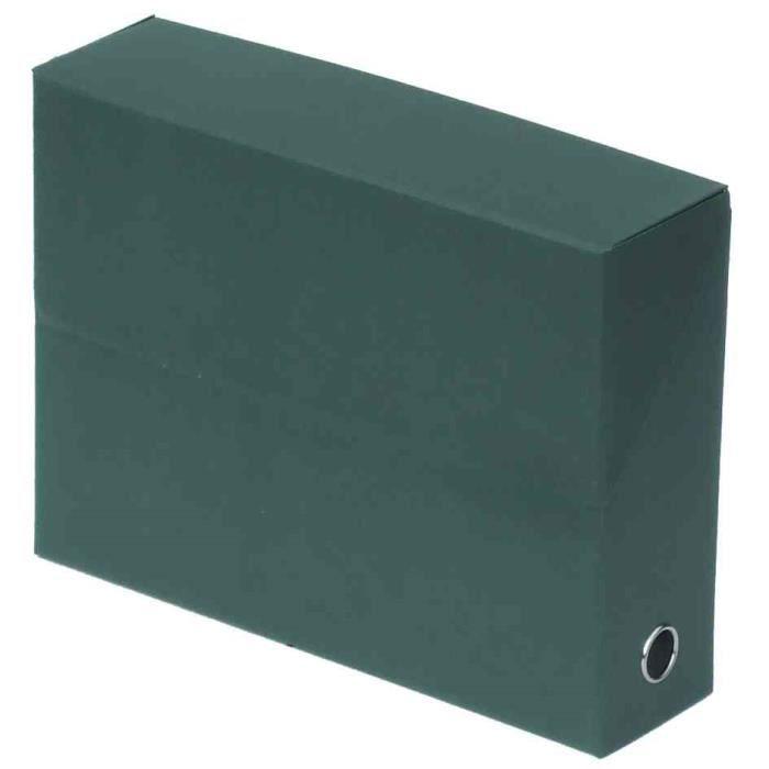 FAST Boite de transfert - Dos 9 cm - 34x25,5 cm - Décor nature - Vert foncé