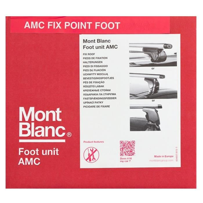 MONT BLANC AMC N°5022 Kit de Fixations Roof Foot pour Barres de Toit