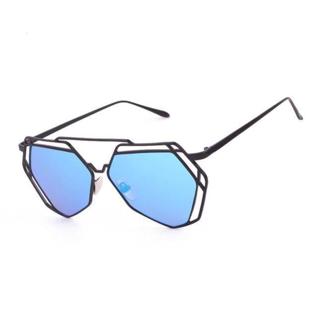 poutres femmes bleu métal géométrie en vue lunettes miroir Twin de Design xF1wxnB