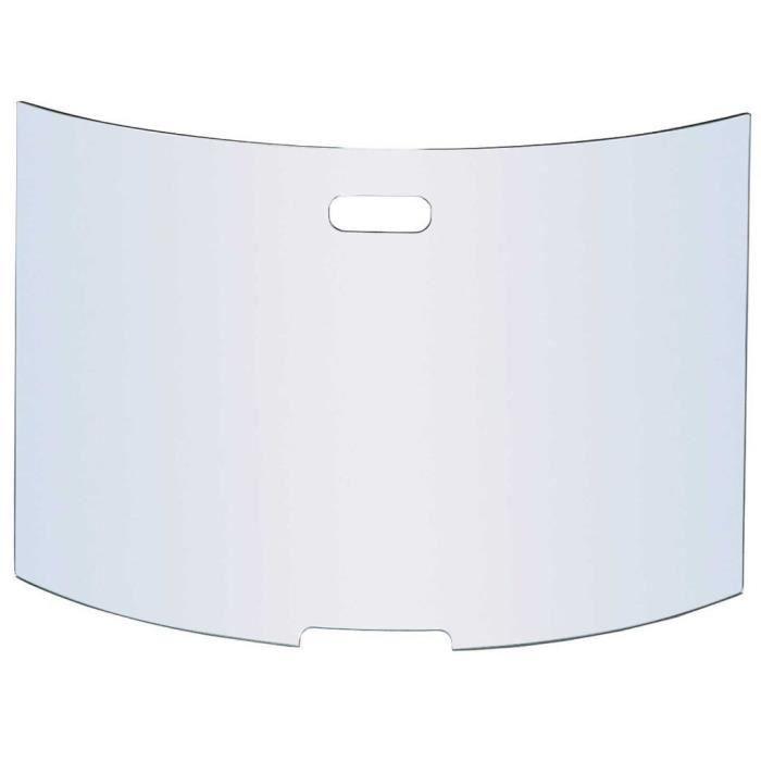 pare-feu cheminée en verre trempé - 76x50 cm - achat / vente pare