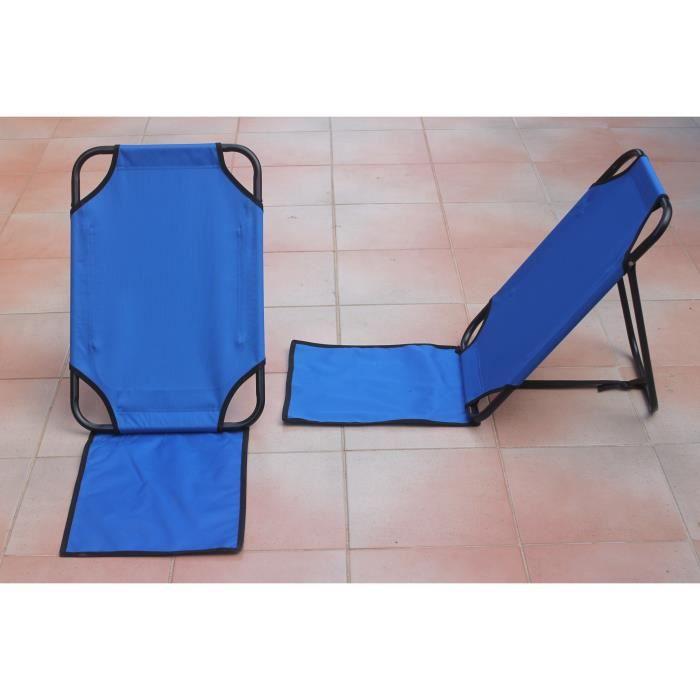 Dossier de plage bleu outremer achat vente chaise longue dossier de plage bleu outre cdiscount - Matelas plage avec dossier ...