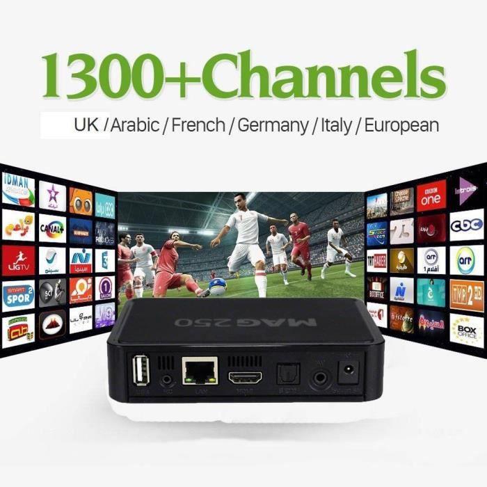 PACK ACCESSOIRES HD Mag 250 Set boîte + 12 mois qhdtv IPTV abonneme
