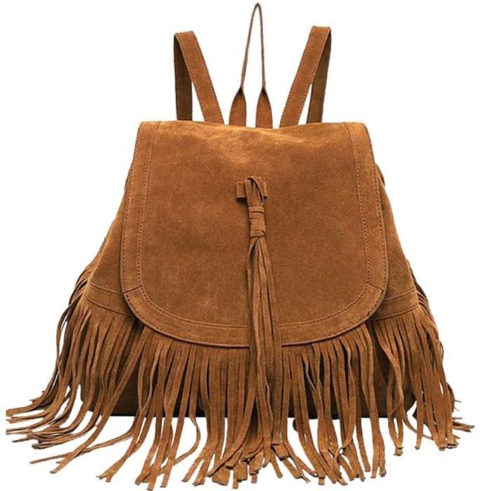 5350ddac3e Sac a frange, Coofit sac à dos sac avec franges porté au dos ...