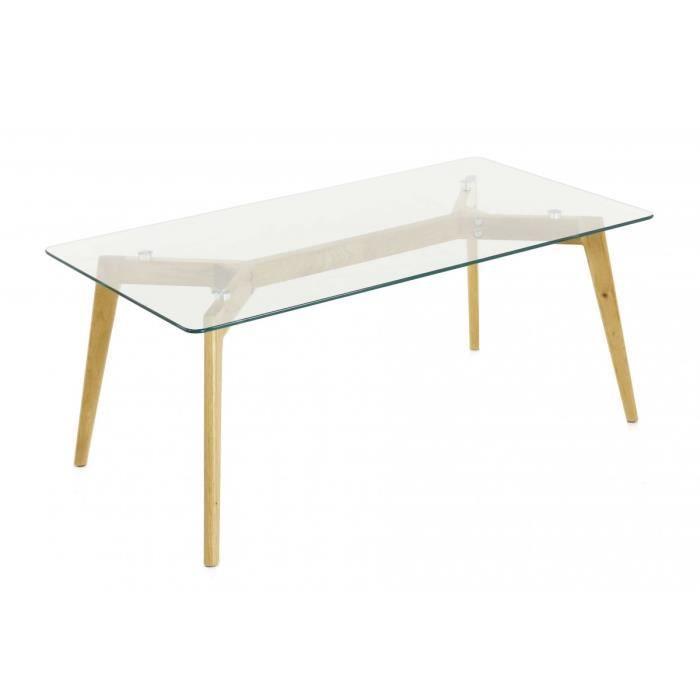 Table basse rectangulaire en verre trempe achat vente pas cher - Table basse en verre cdiscount ...