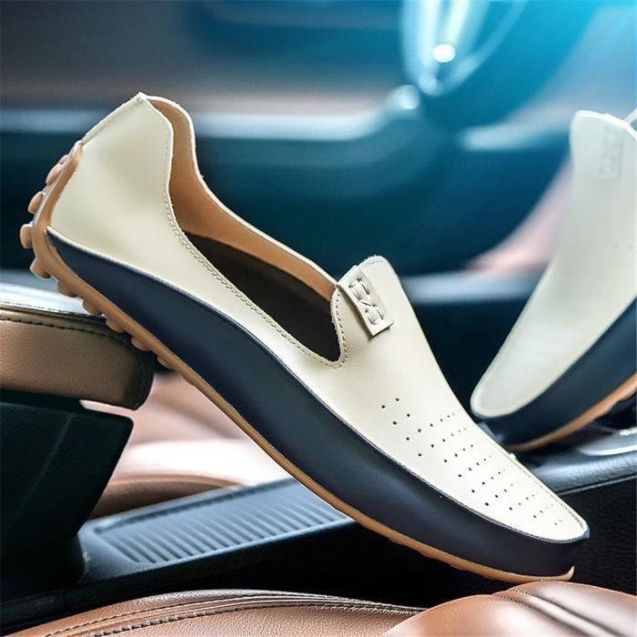 Derbies Homme 2018 Couleur Unie Chaussures Meilleure Qualité Cuir Chaussures Meilleure Qualité AntidéRapant Confortable 39-47