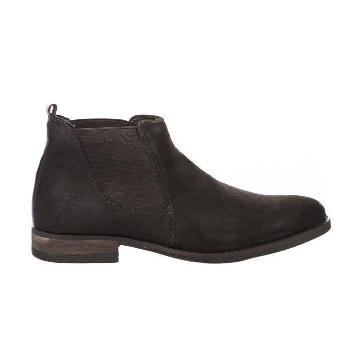 Boots homme - FIRST COLLECTIVE - Marron fonce - MH-280H04 - Millim