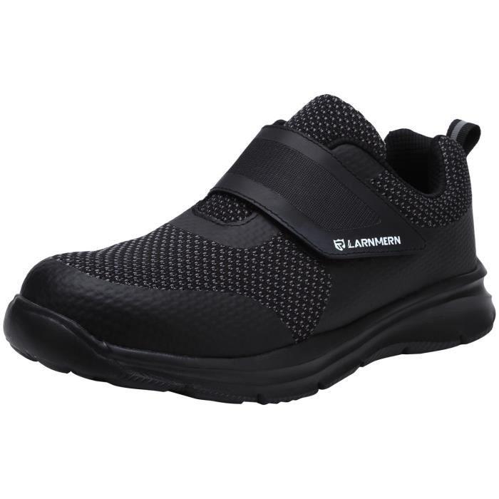 meilleure sélection d3782 ddad9 LARNMERN chaussures de sécurité pour hommes Tête en acier Anti-piercing  Anti-smashing Bande magique Chaussures de travail