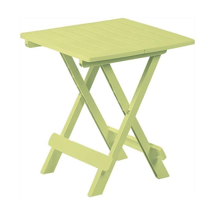 Table de jardin vert anis - Achat / Vente pas cher