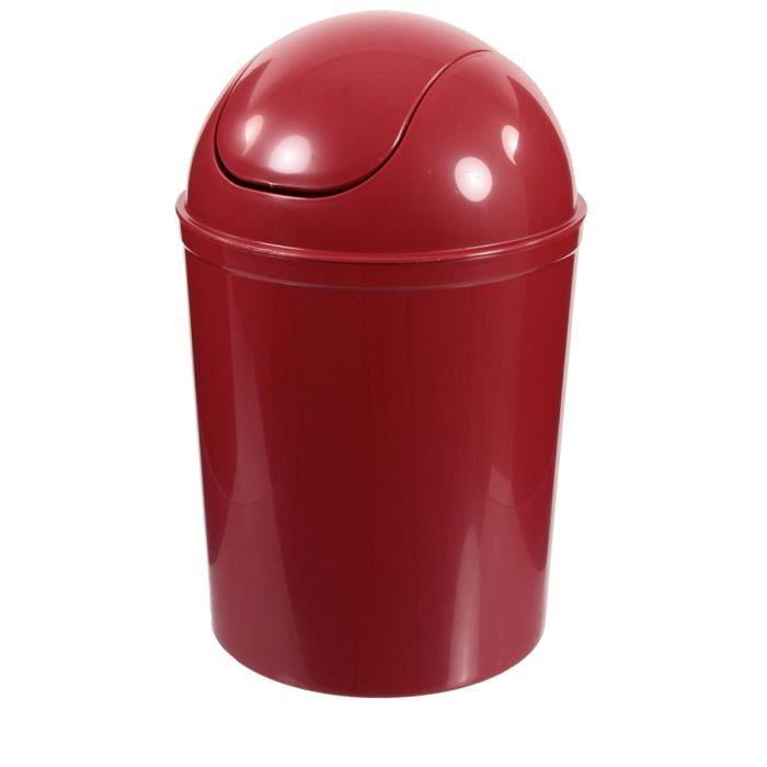 Poubelle de salle de bain rouge rouge achat vente poubelle corbeille poubelle de salle - Poubelle de salle de bain ...