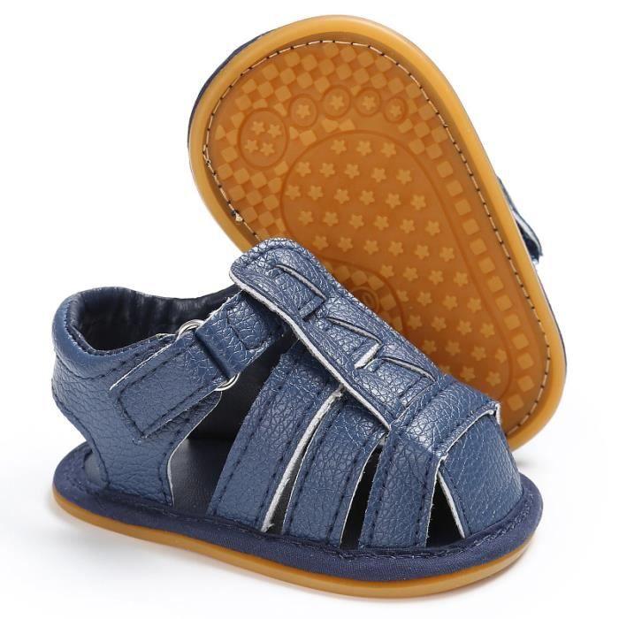 BOTTE Bébé Chaussures à semelle souple en cuir nouveau-né fille lit bébé pré-randonneur 0-18M@BleuHM xFGSfLW