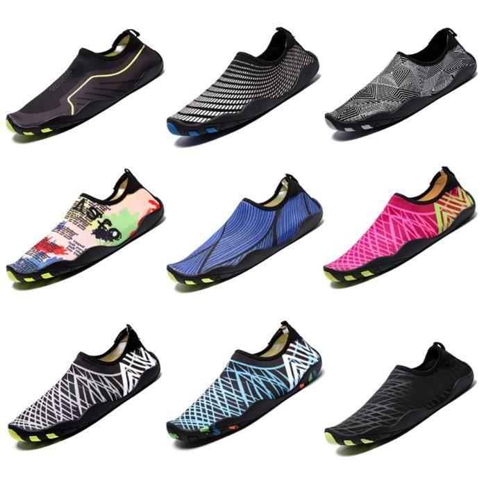 Chaussures d'eau légère Swim peau Aqua Chaussettes Chaussures Slip-on pour la plage IP08A 37 1-2