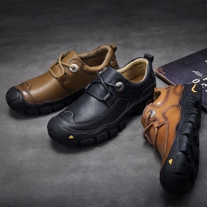 9766 Size38 Conduite brown Mode Extérieure Flats Chaussures Homme Cuir eu Véritable 46 De 42 s Mocassins Casual 0v1nq0w7H