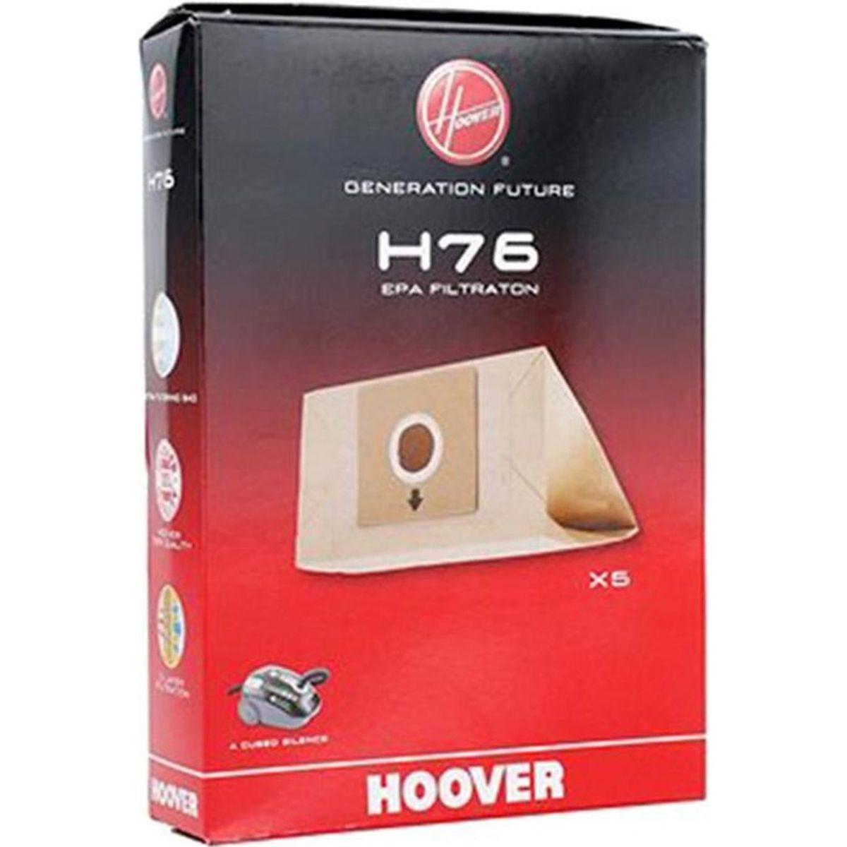 h76 boite de 5 sacs papier pour aspirateur hoover achat vente sac aspirateur cdiscount. Black Bedroom Furniture Sets. Home Design Ideas