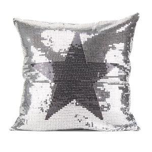 PAVILLON INTERIEUR Coussin Marcy étoile 40x40 cm noir et argent
