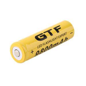 PILES Batterie rechargeable de Li-ion de 3.7V 18650 9800
