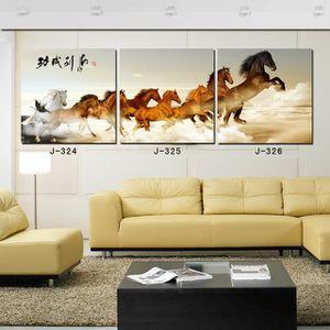 TABLEAU - TOILE 3 pièces en toile de mur Art-cheval Image peinture
