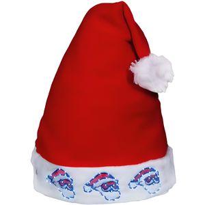 f53bdeeb69c9 CHAPEAU - PERRUQUE Bonnet de Noël lumineux avec 3 tête père noel à LE