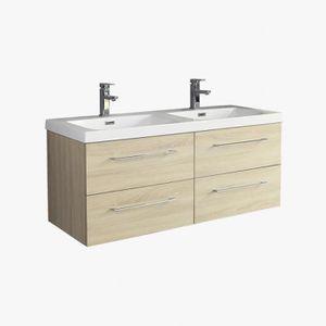 plan double vasque 120 cm achat vente plan double vasque 120 cm pas cher cdiscount. Black Bedroom Furniture Sets. Home Design Ideas