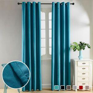 rideau bleu turquoise achat vente rideau bleu turquoise pas cher soldes d s le 10 janvier. Black Bedroom Furniture Sets. Home Design Ideas