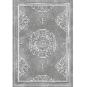 TAPIS D'ENTRÉE Tapis arabesques provençales gris 60 x 90 cm