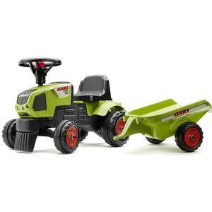 PORTEUR - POUSSEUR CLAAS Porteur Tracteur Baby Axos 310 avec remorque