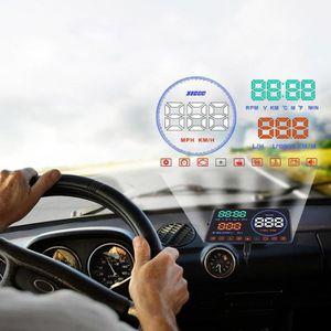 AFFICHAGE PARE-BRISE Écran tête haute LCD de 5,5 pouces HUD Vitesse d'a
