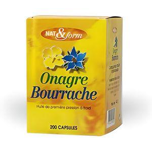 MÉNOPAUSE - ANDROPAUSE HUILE BOURRACHE ET ONAGRE 200 capsules - Nat et…