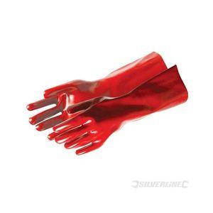 GANT DE CHANTIER Gants PVC rouges