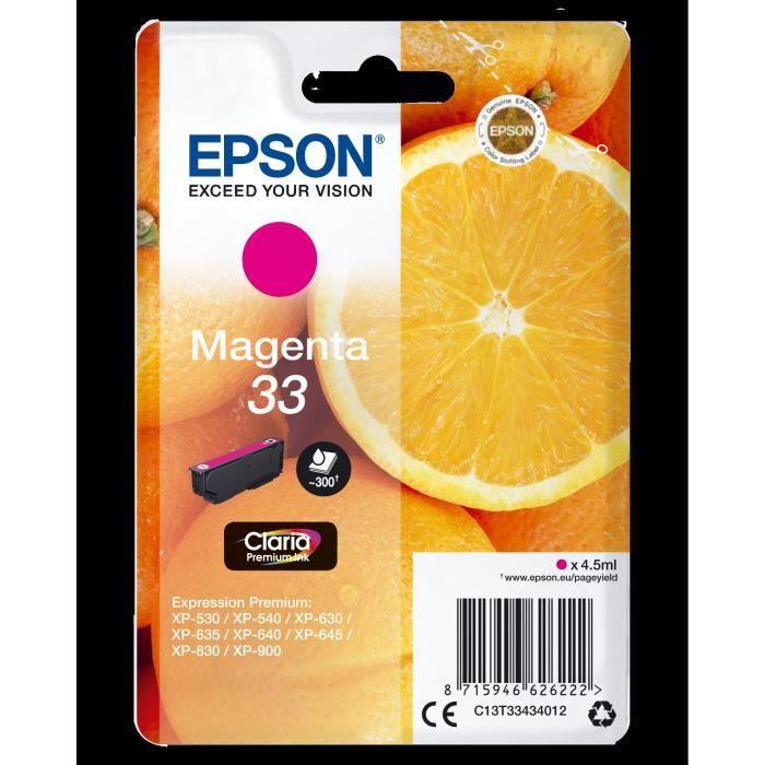 EPSON Cartouche T3343 - Oranges - Magenta