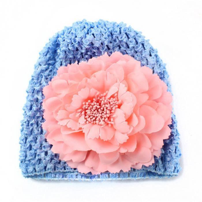 Deuxsuns Nouveau Ne Bebe Fleur Coton Bonnet Beanie Toddler Filles