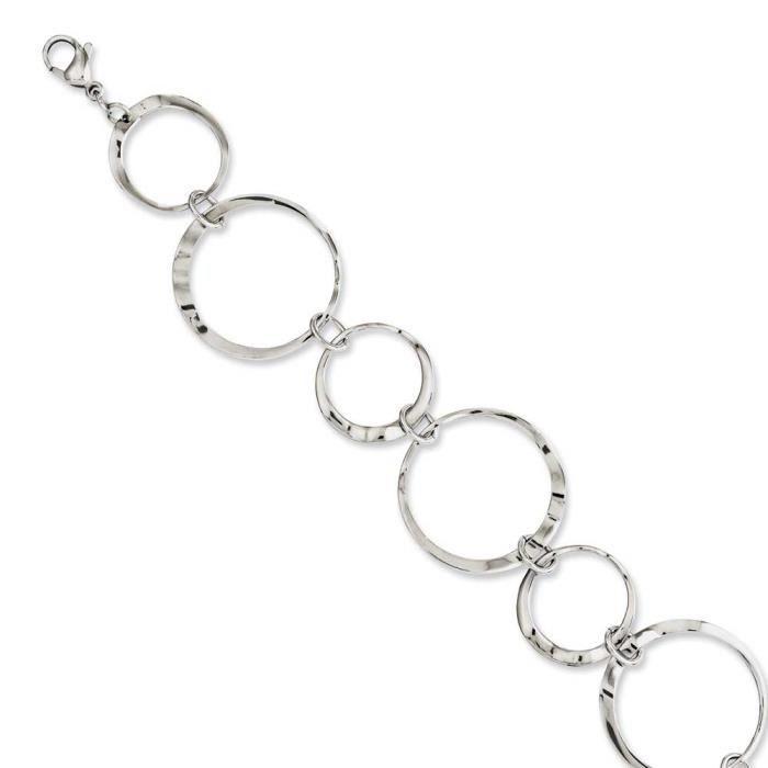 En acier inoxydable poli pour Bracelet Motif ondulé 20 cm