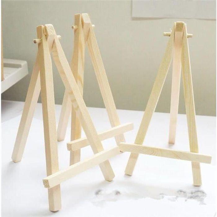 10pcs mini chevalet table bois art d coration achat. Black Bedroom Furniture Sets. Home Design Ideas