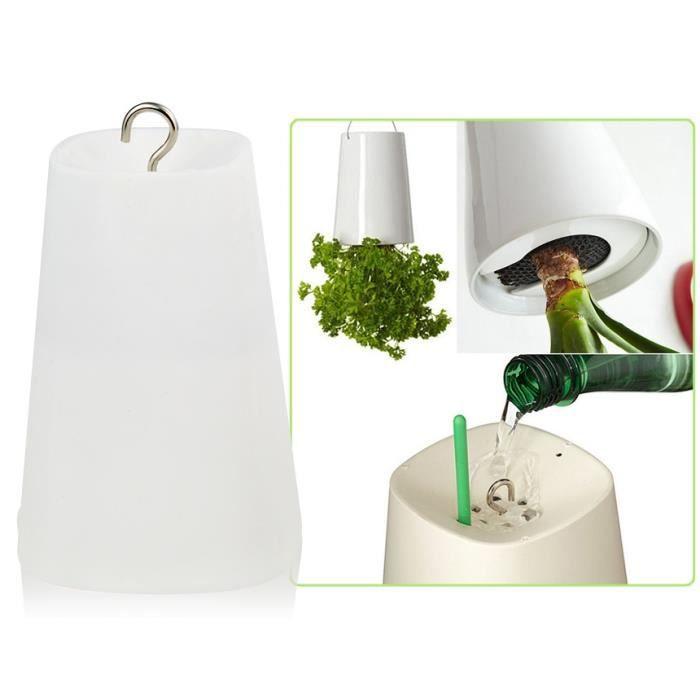 sky planter l 39 envers de pot de fleur blanc achat vente plante pouss e sky planter l. Black Bedroom Furniture Sets. Home Design Ideas