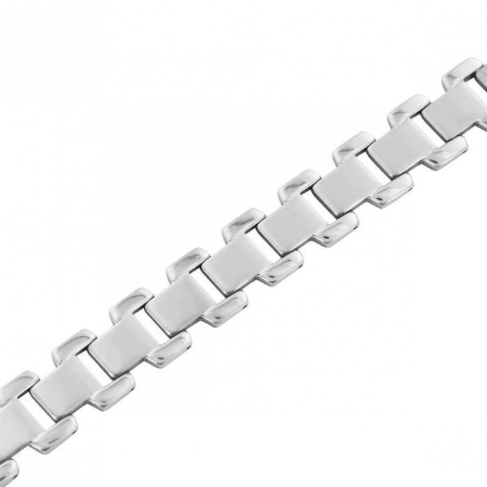 limpide en vue officiel remise spéciale de Bracelet Homme Acier pas Cher M H 1077