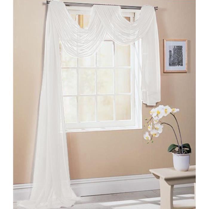 100 m blanc Sheer Organza Tissu Voile rideaux rideau mariage matériel