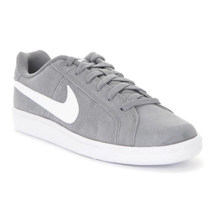af266a903bee Chaussures Nike Court Royale Suede Gris Gris Achat Chaussures Vente Basket  c14f7a