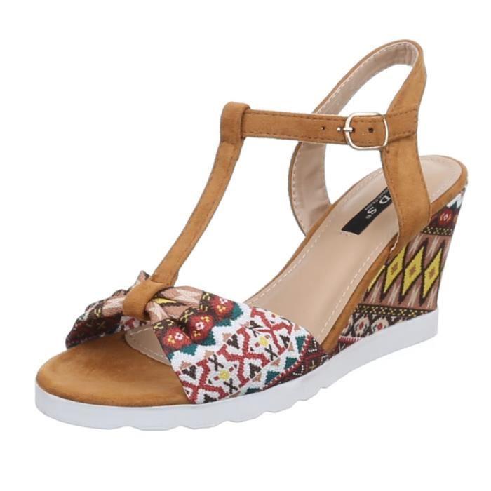 femme chaussure sandalette escarpin par lanière beige C4Jx1