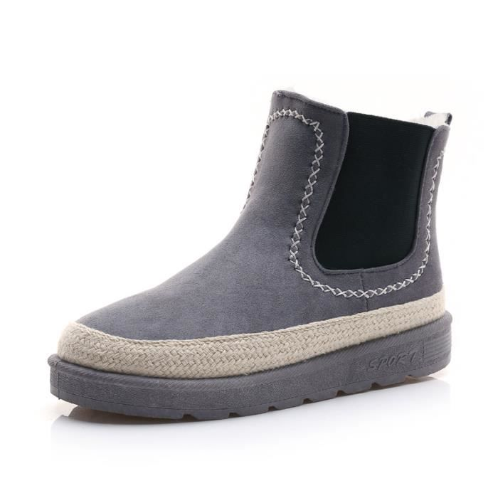 Bottes femme Bottes mode Bottes courtes Bottes avec coton Bottes hiver Chaussures étanches Chaussures mode Chaussures chaudement XK9OjHn