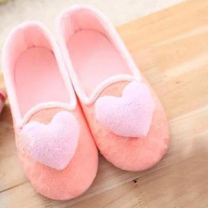 Femmes pantoufles Accueil femmes enceintes chaudes chaussures de yoga chaussures rose