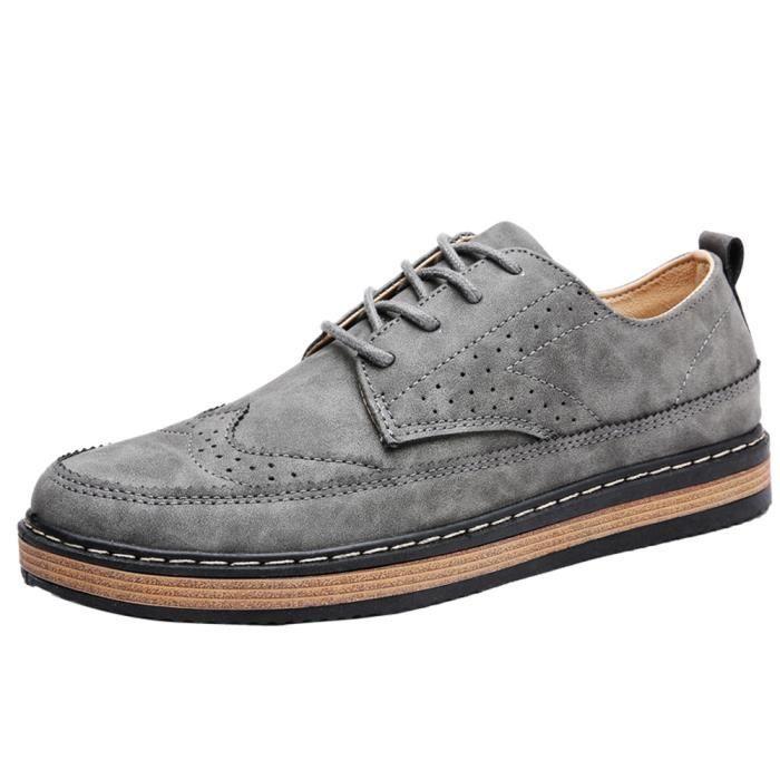 Sneaker Mode Homme AntidéRapant Style britannique Chaussure De Loisirs de plein air Chaussure De Brand Hommes Plus Taille