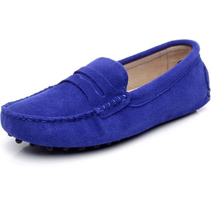 Shoes Classic 38 Driving 1 Moccasin 2 Slippers Loafers Soft Leather Taille Ct32m Suede gtw4nHwqF