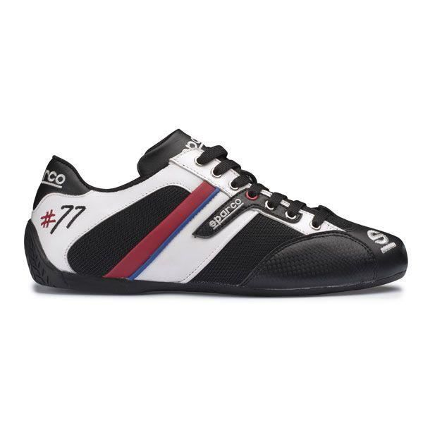 be972a0702 Chaussures SPARCO Time 77 en cuir et tissu noir-blanc taille 44 Noir ...