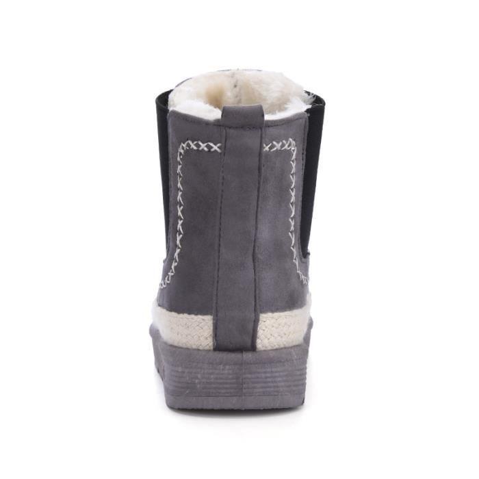 Chaussures femme Bottes courtes Bottes avec coton Bottes hiver Chaussures étanches Bottes mode Chaussures chaudement Chaussures
